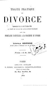 leopold goirand traité divorce